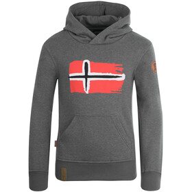 TROLLKIDS Trondheim Sweat-shirt de survêtement Enfant, grey melange